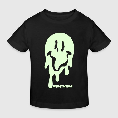 SmileyWorld Spooky Gold Glitter Smiley - Kinderen Bio-T-shirt