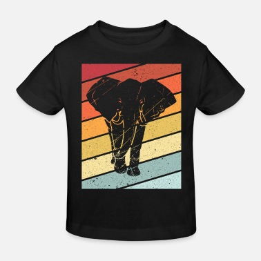 Grey Elephant retro animal gift africa proboscis zoo - Kids' Organic T-Shirt