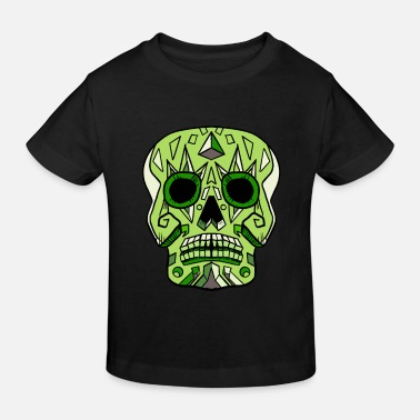 Cute Skull Candy Skull Green - Kids' Organic T-Shirt