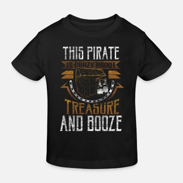 Privateer Pirate treasure gift - Kids' Organic T-Shirt