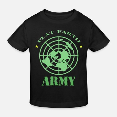 Flat Rate Flat Earth Society Flat Earth Army - Kids' Organic T-Shirt