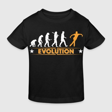 Eislaufen Evolution - orange/weiss - Kinder Bio-T-Shirt