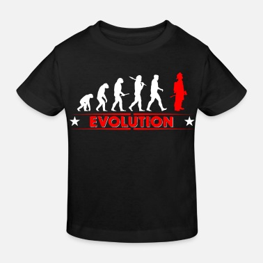 Fireman Fire evolution - red/white - Kids' Organic T-Shirt