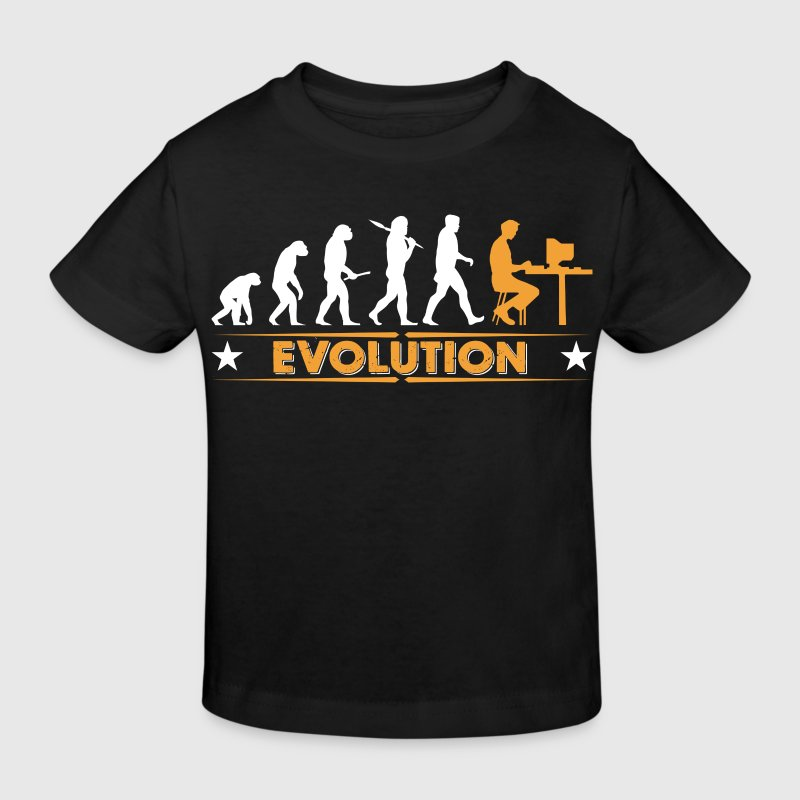 Computer Nerd Evolution - orange/weiss - Kinder Bio-T-Shirt