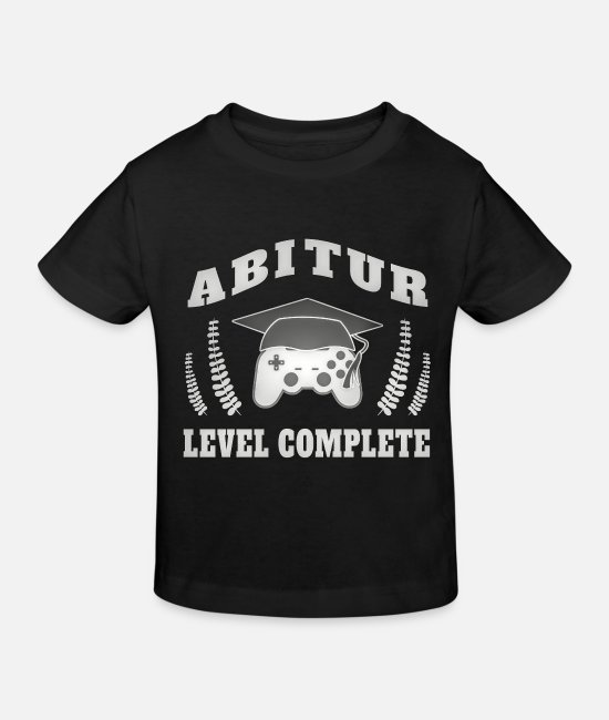 Studies T-Shirts - Abitur Abi Abitur examination Gamer abiball - Kids' Organic T-Shirt black