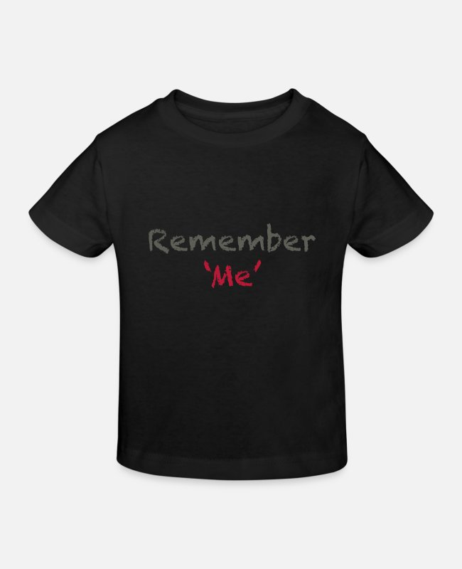 Reminder T-Shirts - Remember Me? - Kids' Organic T-Shirt black