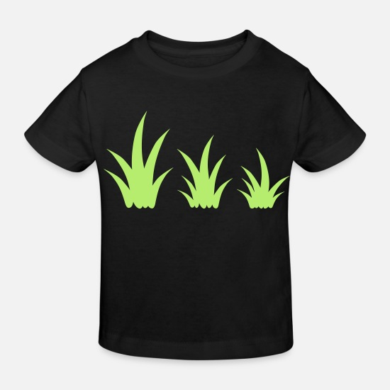 Pattern Baby Clothes - Grass tufts template decoration clipart design - Kids' Organic T-Shirt black