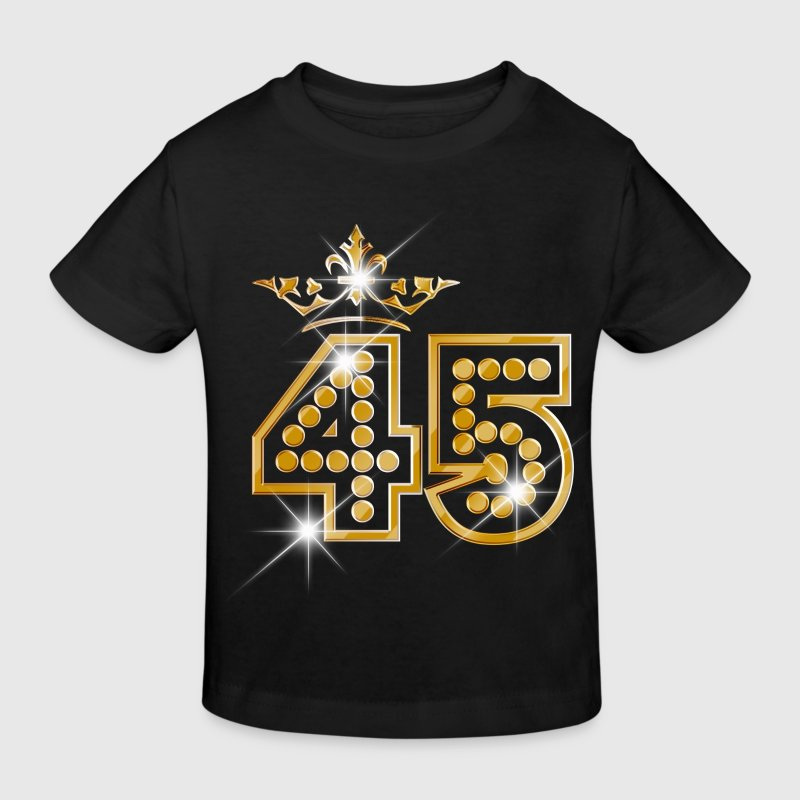 45 - Birthday - Queen - Gold - Burlesque - Kinderen Bio-T-shirt