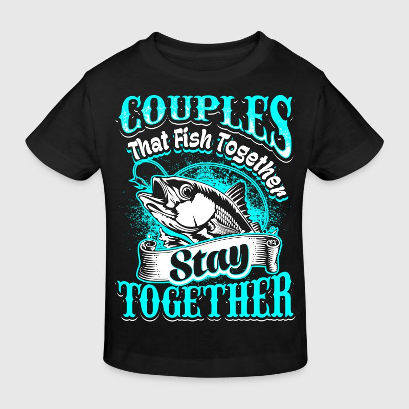 Couples - fishing - EN - Kids' Organic T-Shirt