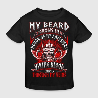 My Beard Honor - Viking - EN - Ekologisk T-shirt barn