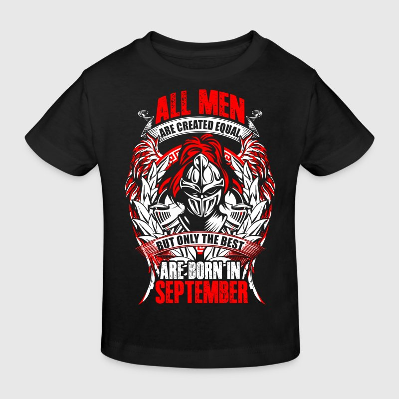 September - All men are created equal - EN - Organic børne shirt