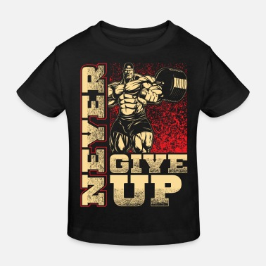 Up Never give up - Workout - Fitness - EN - Lasten luomu t-paita