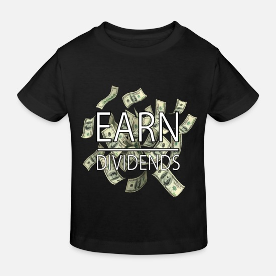 Moneygrubbing Baby Clothes - Stocks Money Stock Exchange Dividends Finance Gift - Kids' Organic T-Shirt black