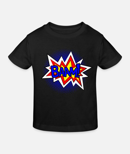 Comic Style T-Shirts - Baam Bam Comic Strip Comic Cartoon Comic Style Comic - Kids' Organic T-Shirt black