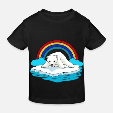 Picture Polar Bear Arctic Rainbow Climate Change Children Baby - Ekologisk T-shirt barn