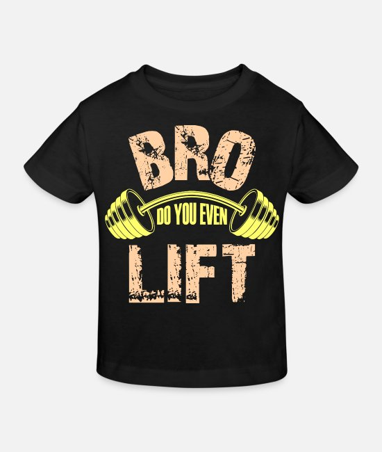 Elevator Baby Clothes - bro do you even lift - Kids' Organic T-Shirt black