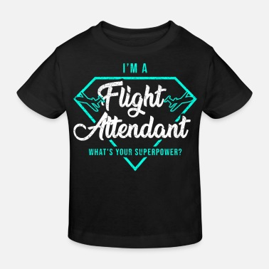 Aviatik Stewardess Saftschubse Aviatik Beruf Airline - Kinder Bio T-Shirt