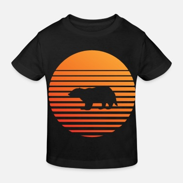 Badger silhuette in the sunset - Kids' Organic T-Shirt