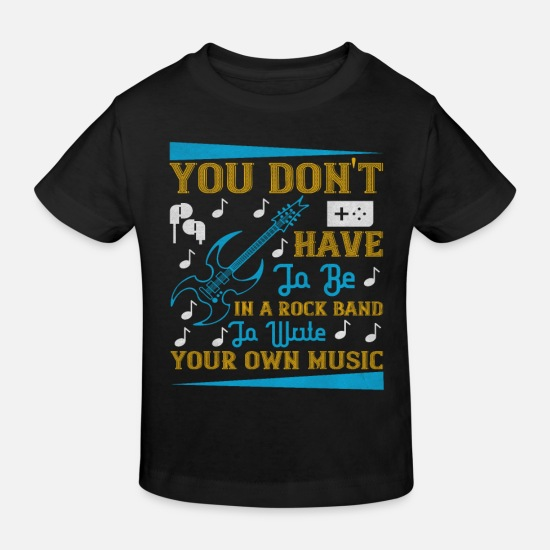 Singer Baby Clothes - Electric guitar rock music band - Kids' Organic T-Shirt black