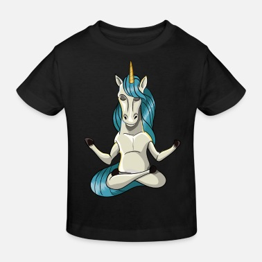 Meditation Unicorn meditation Yoga gåva - Ekologisk T-shirt barn