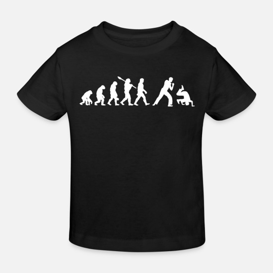 Gift Idea Baby Clothes - Capoeira Evolution - Kids' Organic T-Shirt black