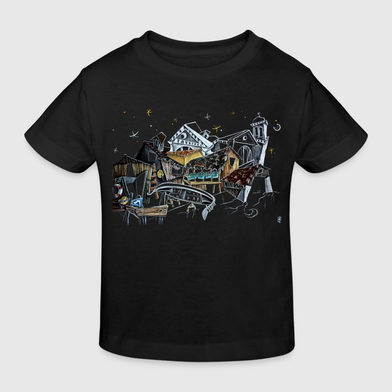 Venice T-shirts - Gondola Night Dream - Fashion Italy - Kids' Organic T-shirt