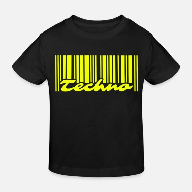 Techno Barcode Neon Yellow - T-shirt bio Enfant