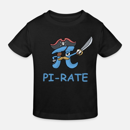 Pirate Vêtements Bébé - Pi Rate Math Pirate Drôle Math Cadeau - T-shirt bio Enfant noir