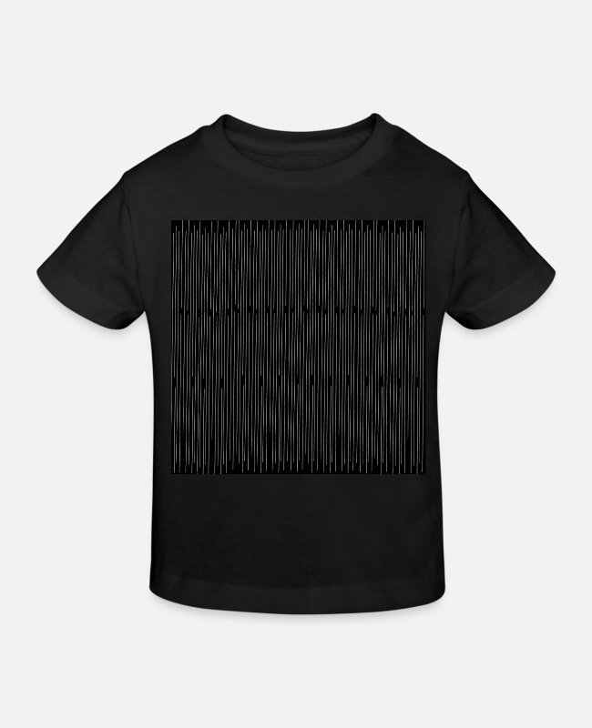 Geometry T-Shirts - Pinstripe pattern black and white, woman - Kids' Organic T-Shirt black