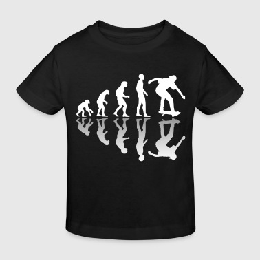 Neandertaler Evolution Skater Skating - Kinder Bio-T-Shirt