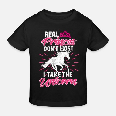 Equitation Dear unicorn instead of prince I rider - Kids' Organic T-Shirt