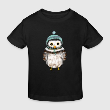 owl with hat - Kids' Organic T-Shirt