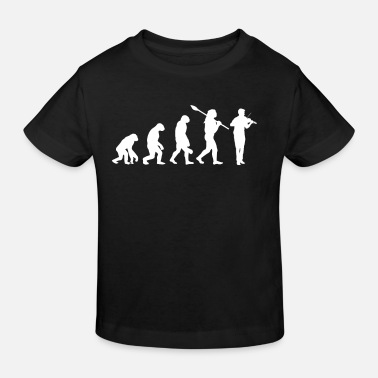 Evolution des Geigenspielers - Kinder Bio T-Shirt