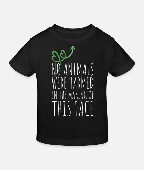 Makeup Baby Clothes - No Animals Were Harmed Making Of This Face Vegan - Kids' Organic T-Shirt black