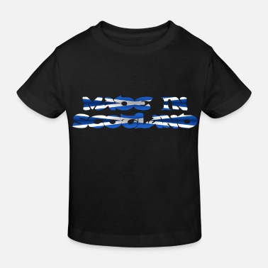 Clan Made in Scotland in Flaggen Farben Text Design - Kinder Bio T-Shirt
