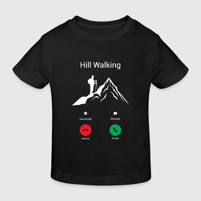 ON THE MOUNTAIN, WALKING GETS ME! - Kids' Organic T-shirt