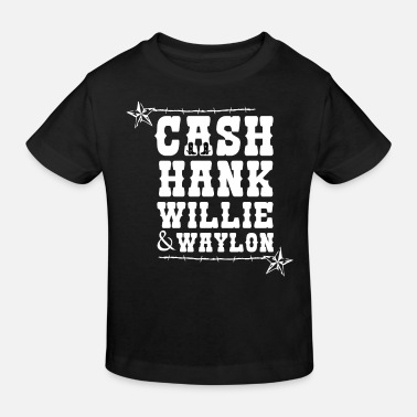 Music Cash Hank Willie & Waylon Music Country Tennessee - Kids' Organic T-Shirt
