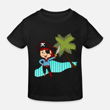 Île Pirate Sword Island Palm Tree Cartoon Idée Cadeau - T-shirt bio Enfant