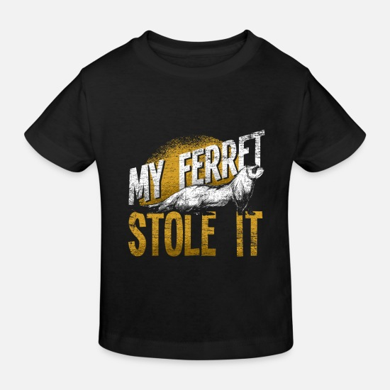 Gift Idea Baby Clothes - Ferret thief - Kids' Organic T-Shirt black