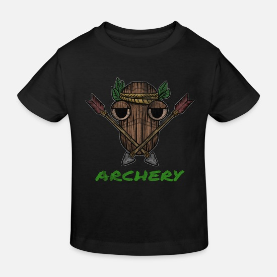 Gift Idea Baby Clothes - Archery and Crossbow Gift - Kids' Organic T-Shirt black