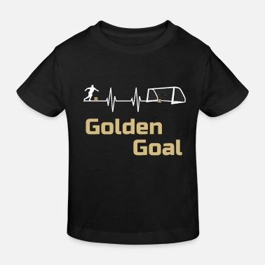 Voetbal Golden Goal Heartbeat Gate ECG Heart Line - Kinderen bio T-shirt