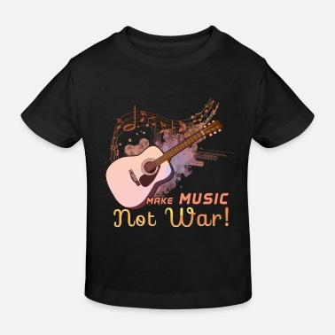 Make Music Not War guitariste en disant - T-shirt bio Enfant
