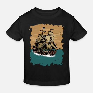 Pirate Ship pirate ship - Kids' Organic T-Shirt