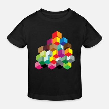 Cube Dice colorful - Kids' Organic T-Shirt
