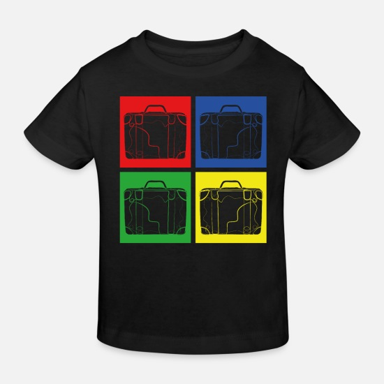 Travel Baby Clothes - suitcase - Kids' Organic T-Shirt black