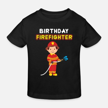 Kid Fire department kids birthday - Kids' Organic T-Shirt