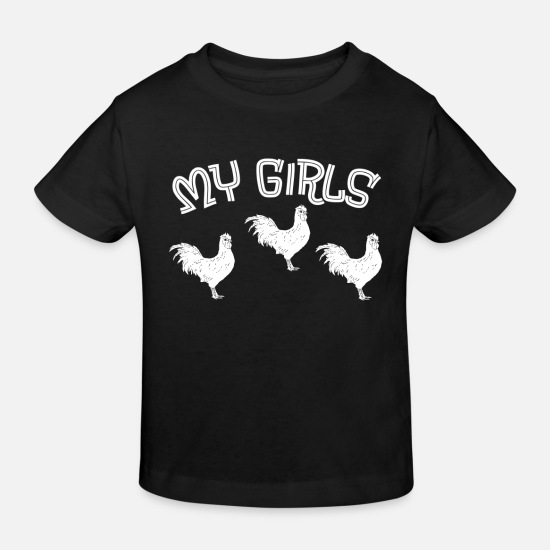 Hen Baby Clothes - Farmer farmer farm chickens chicks stall - Kids' Organic T-Shirt black