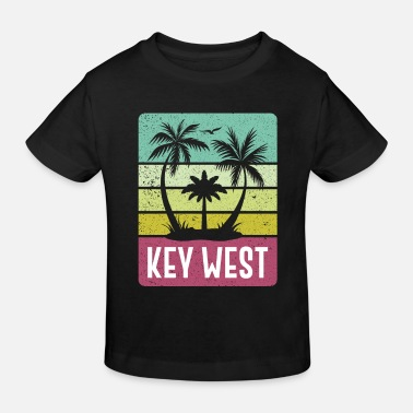 Retro- Strand-Ferien-Andenken Key West Florida - Kinder Bio T-Shirt