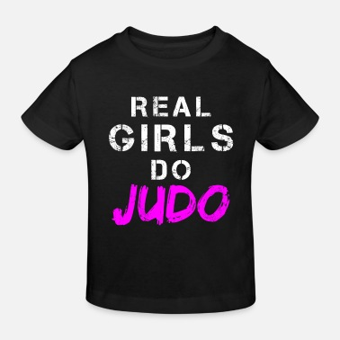 Girl Judo girl saying | Gift fighter training - Kids' Organic T-Shirt