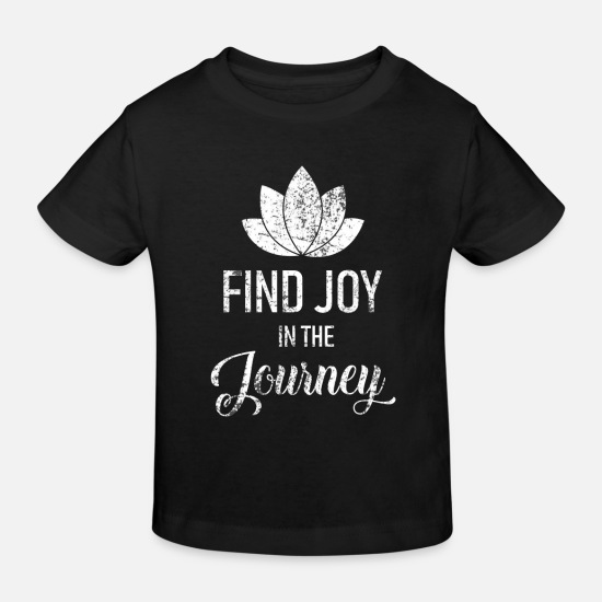 Love Baby Clothes - Mindfulness journey - Kids' Organic T-Shirt black